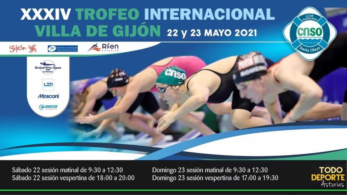 🖥 Directo –  NATACION – XXXIV Trofeo Internacional Villa de Gijón ( Sábado mañana)