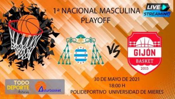 18:00 Baloncesto 1ª Nacional Masculina – Universidad de Oviedo vs Gijón Basket
