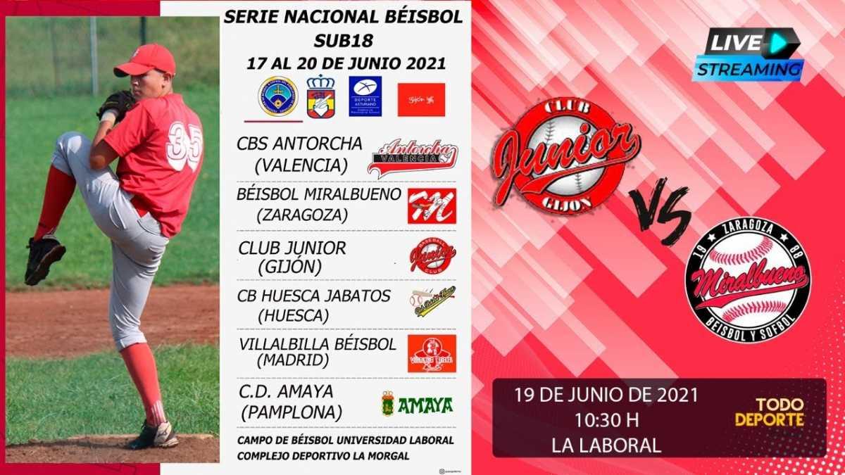 CAMPEONATO DE ESPAÑA Beisbol – SUB18 – Club Junior vs Béisbol Miralbueno Zaragoza